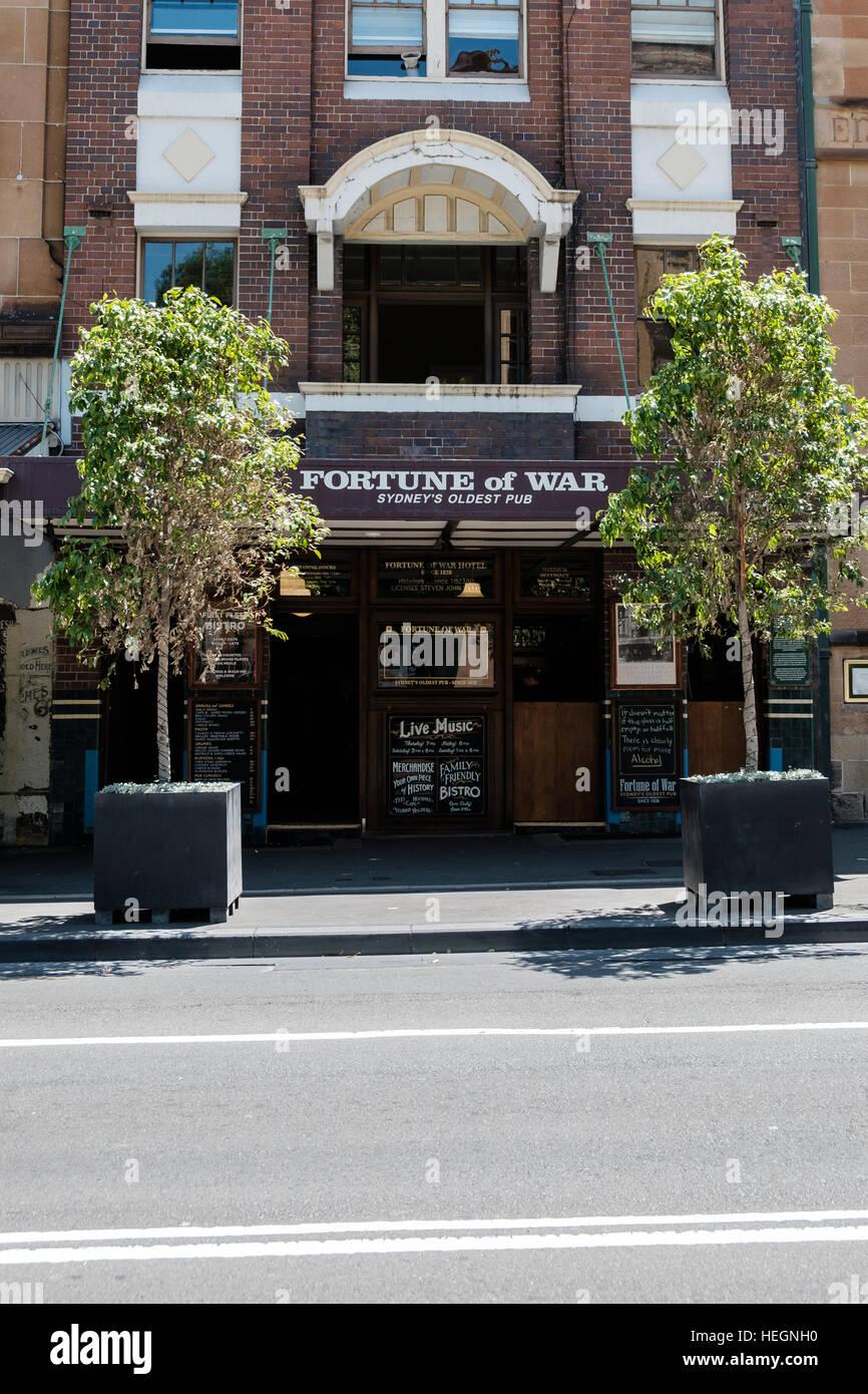 Fortune of War pub, the rocks Sydney New South Wales Austalia, the Oldest pub in Sydney. - Stock Image