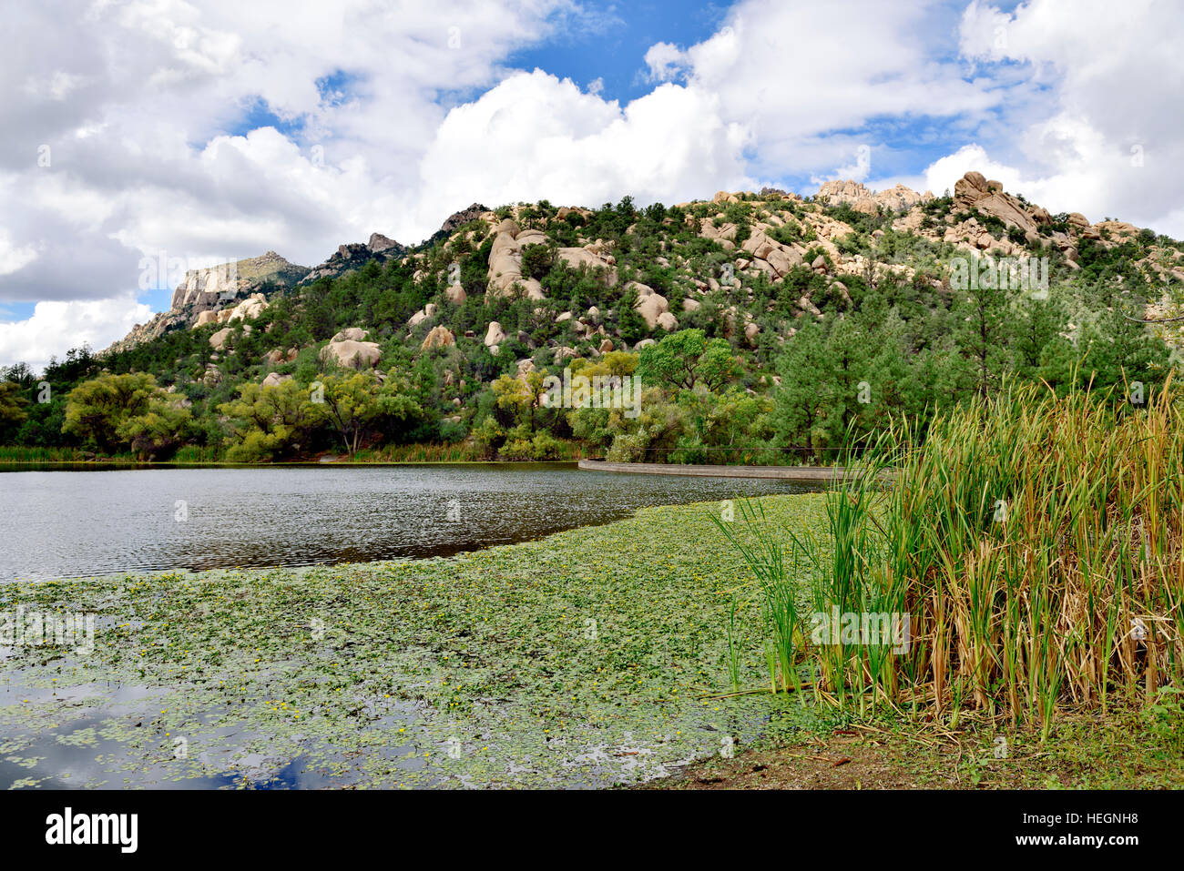 Granite Basin Lake Az.View Over Granite Basin Lake In Yavapai County Arizona Usa Stock
