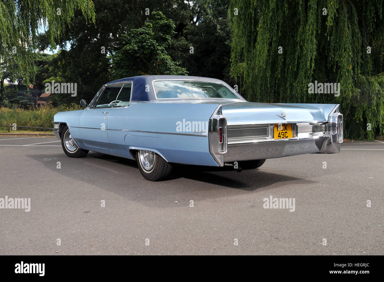 1965 Cadillac Coupe de Ville American luxury 2 door coupe - Stock Image
