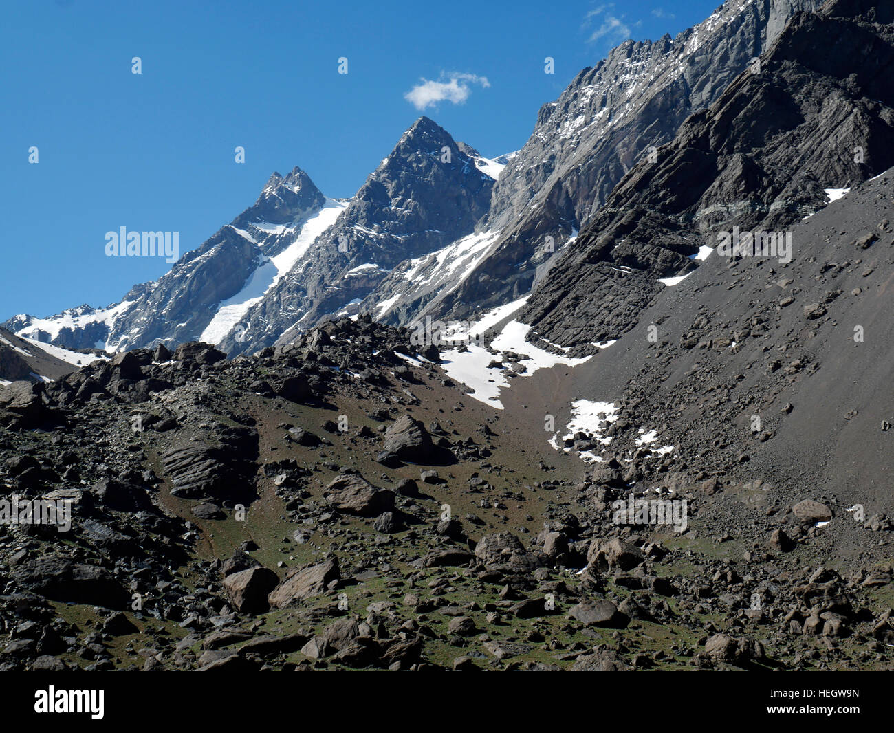 The Penitents is a ski resort in Mendoza, Argentina - Stock Image