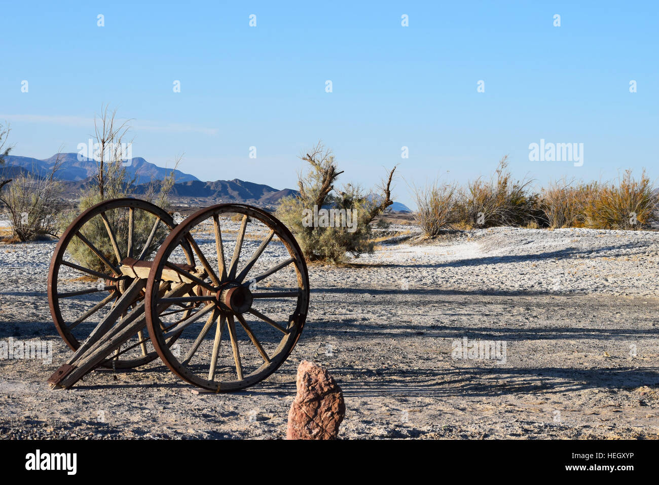 cartwheel in death valley. - Stock Image