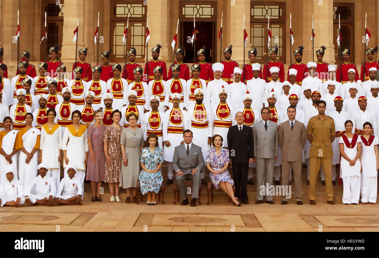THE VICEROY'S HOUSE 2017 BBC films production with Hugh Bonneville as Lord Mountbatten and Gillian Anderson - Stock Image