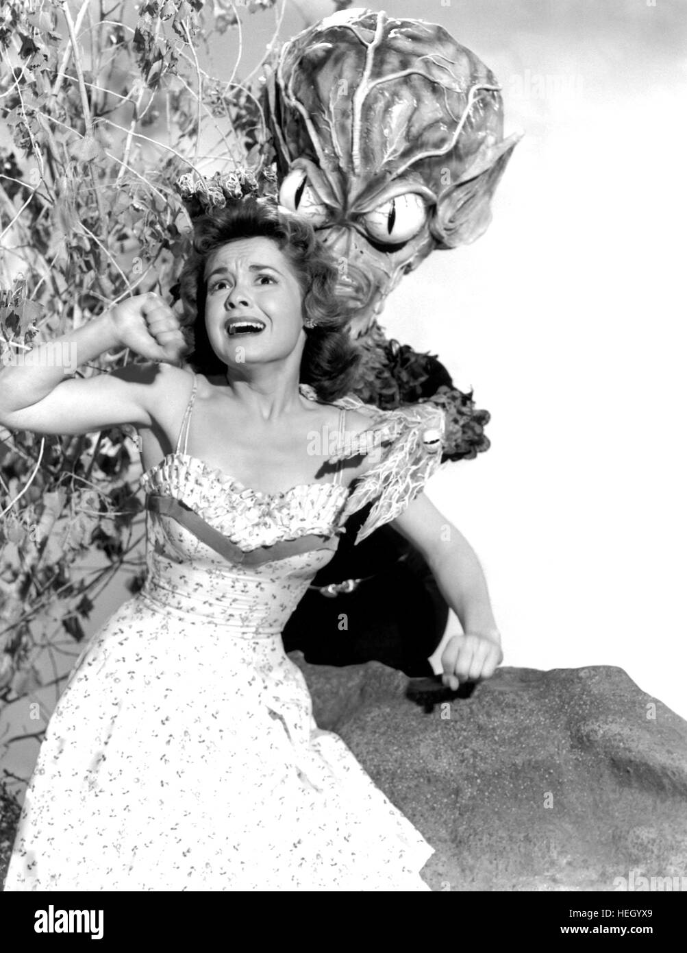 INVASION OF THE SAUCER MEN (aka Invasion of the Hell Creatures) 1957 AIP sci-fi film with Gloria Castillo - Stock Image