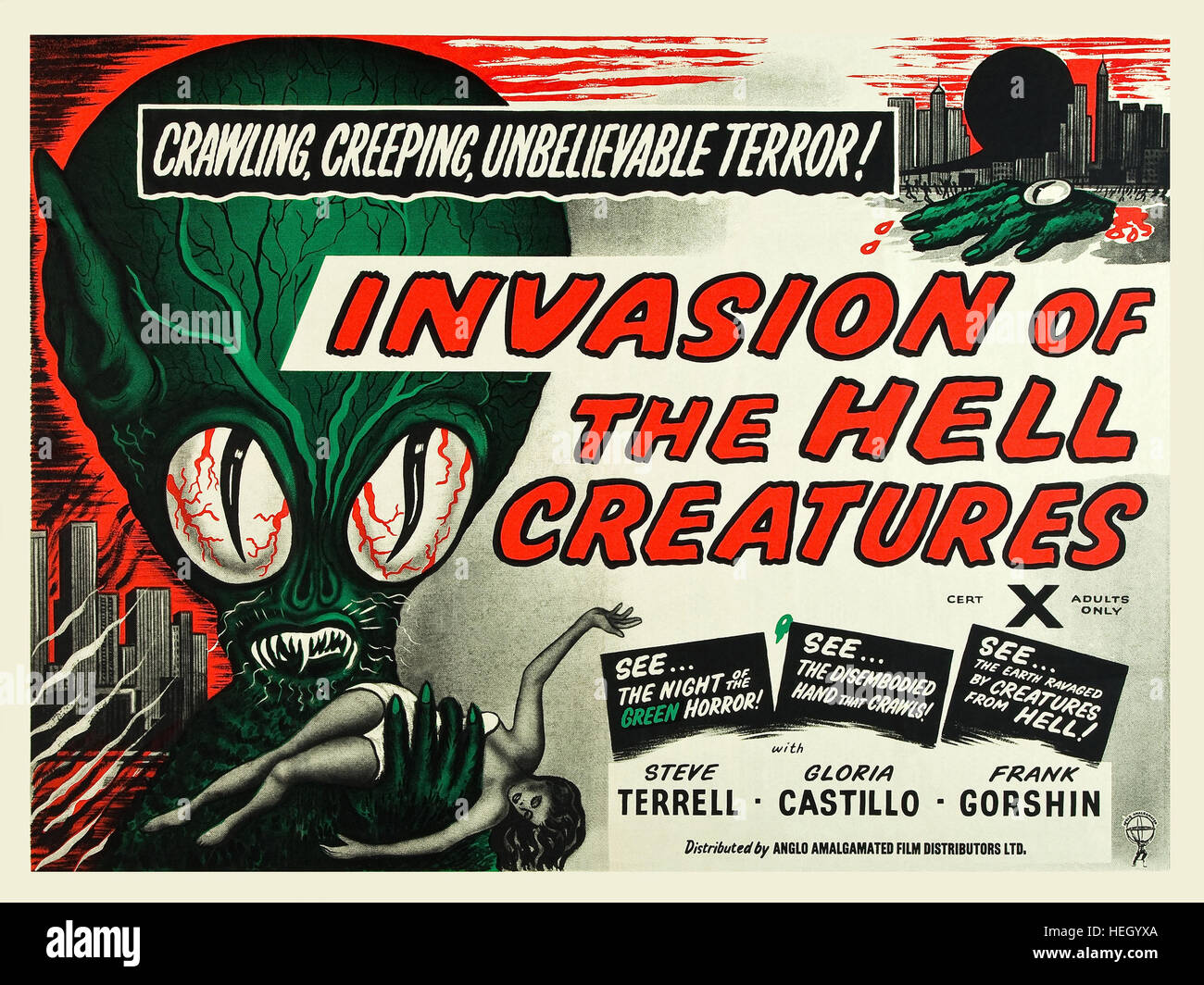 INVASION OF THE HELL CREATURES (aka Invasion of the Saucer Men) 1957 AIP sci-fi film - Stock Image