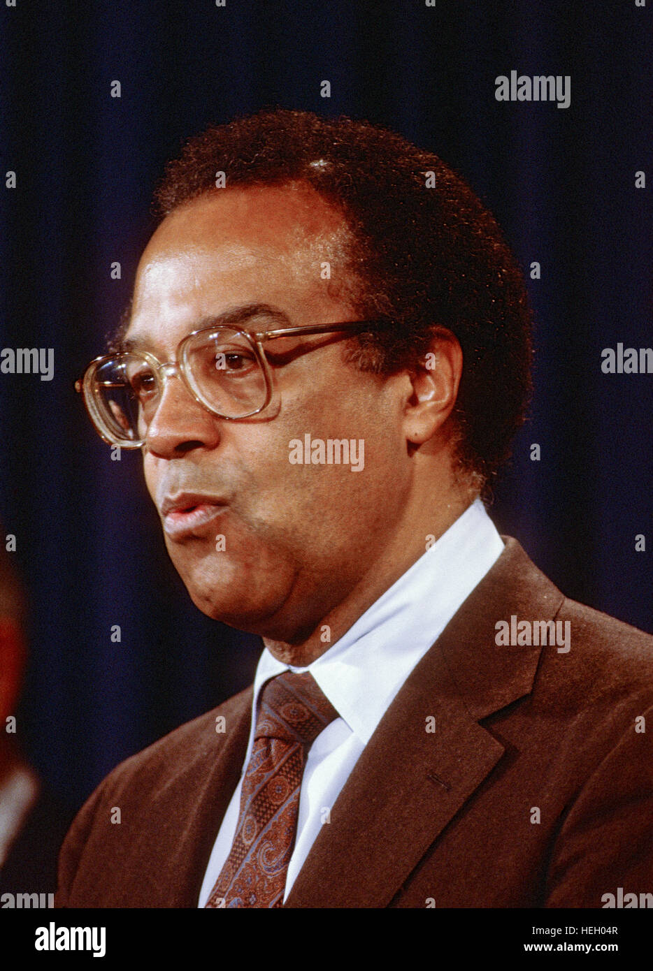 Washington. DC., USA, 1984 Secretary of Housing and Urban Development  Samuel Pierce Credit: Mark Reinstein Stock Photo