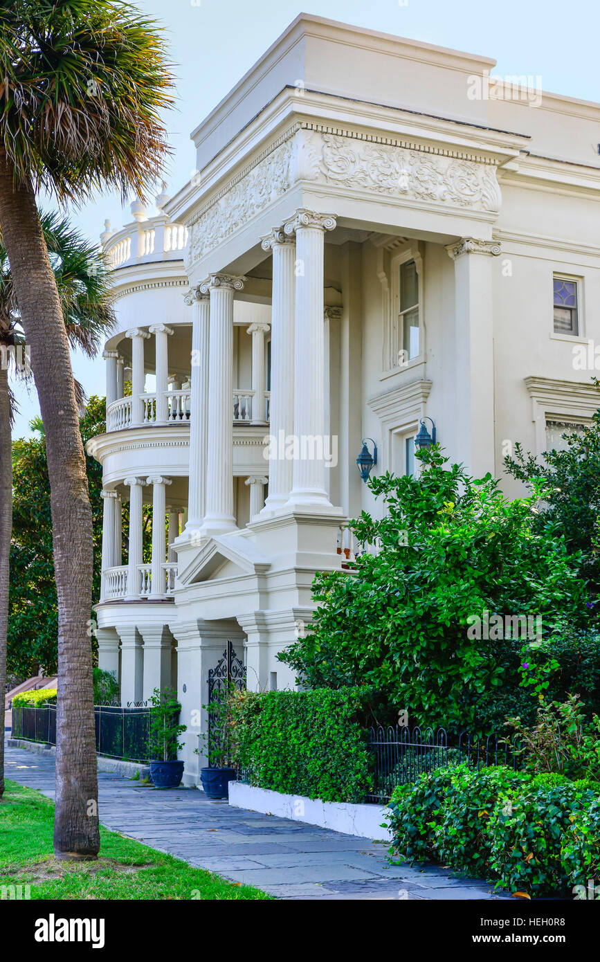 The Renaissance Revival Style Architecture Of Porcher Simonds House On Battery In Historic Downtown Charleston SC