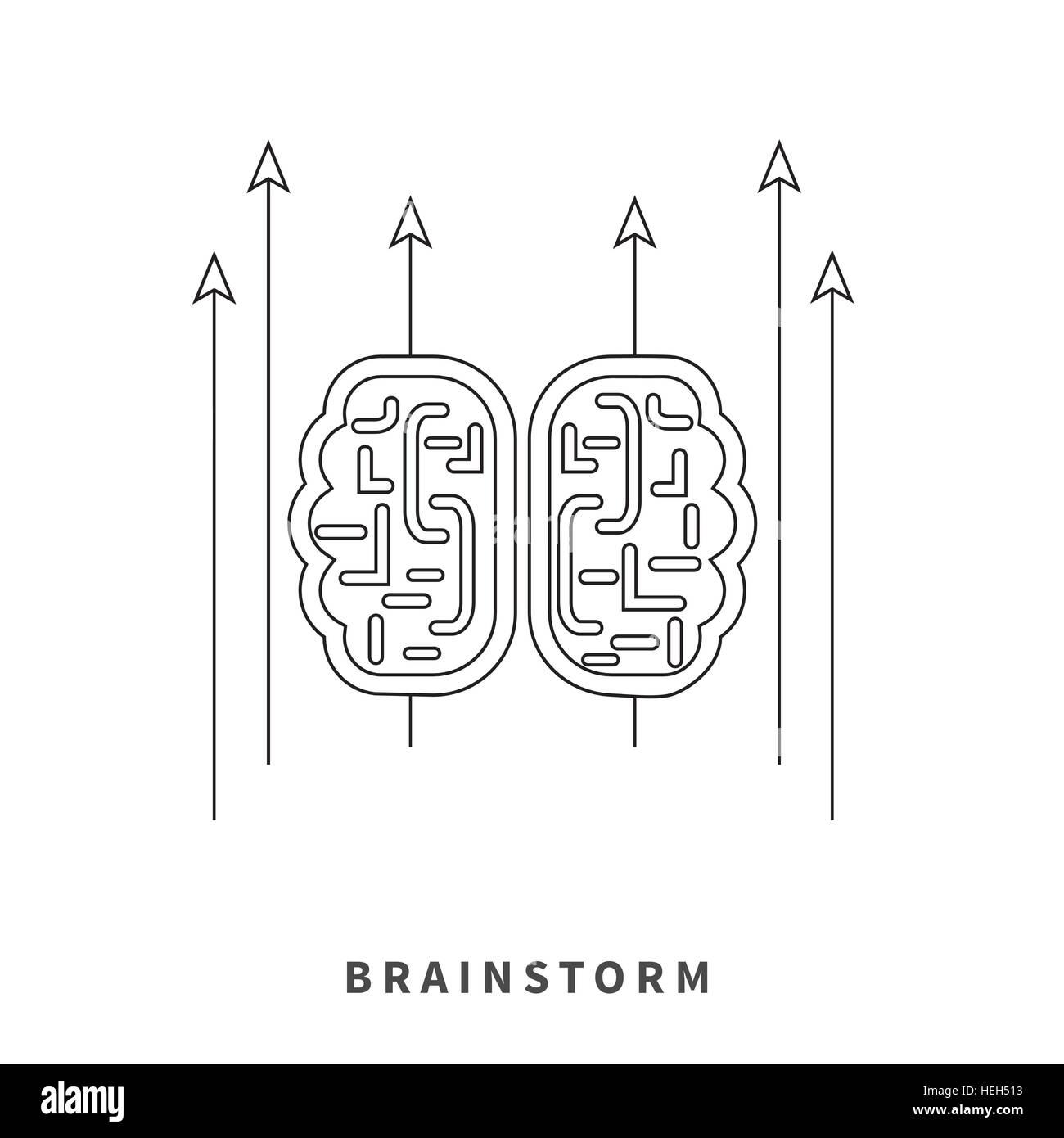 Brainstorm Design Concept Brain Idea Thinking Mind Map Creative Stock Vector Image Art Alamy