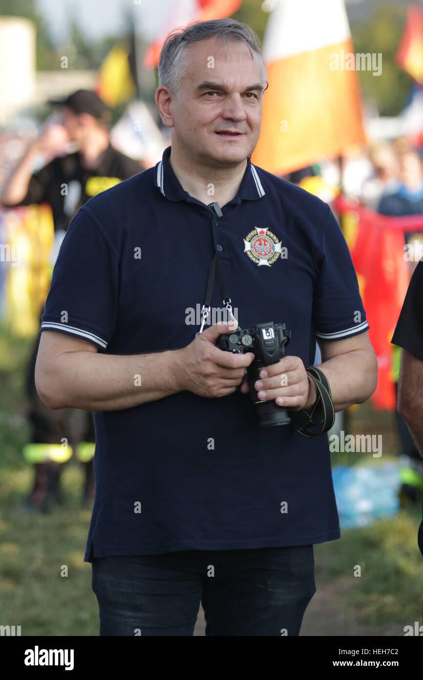 KRAKOW, POLAND - JULY 29, 2016: Krakow Blonia, World Youth Day 2016 , Way of the Cross o/p Waldemar Pawlak - Stock Image