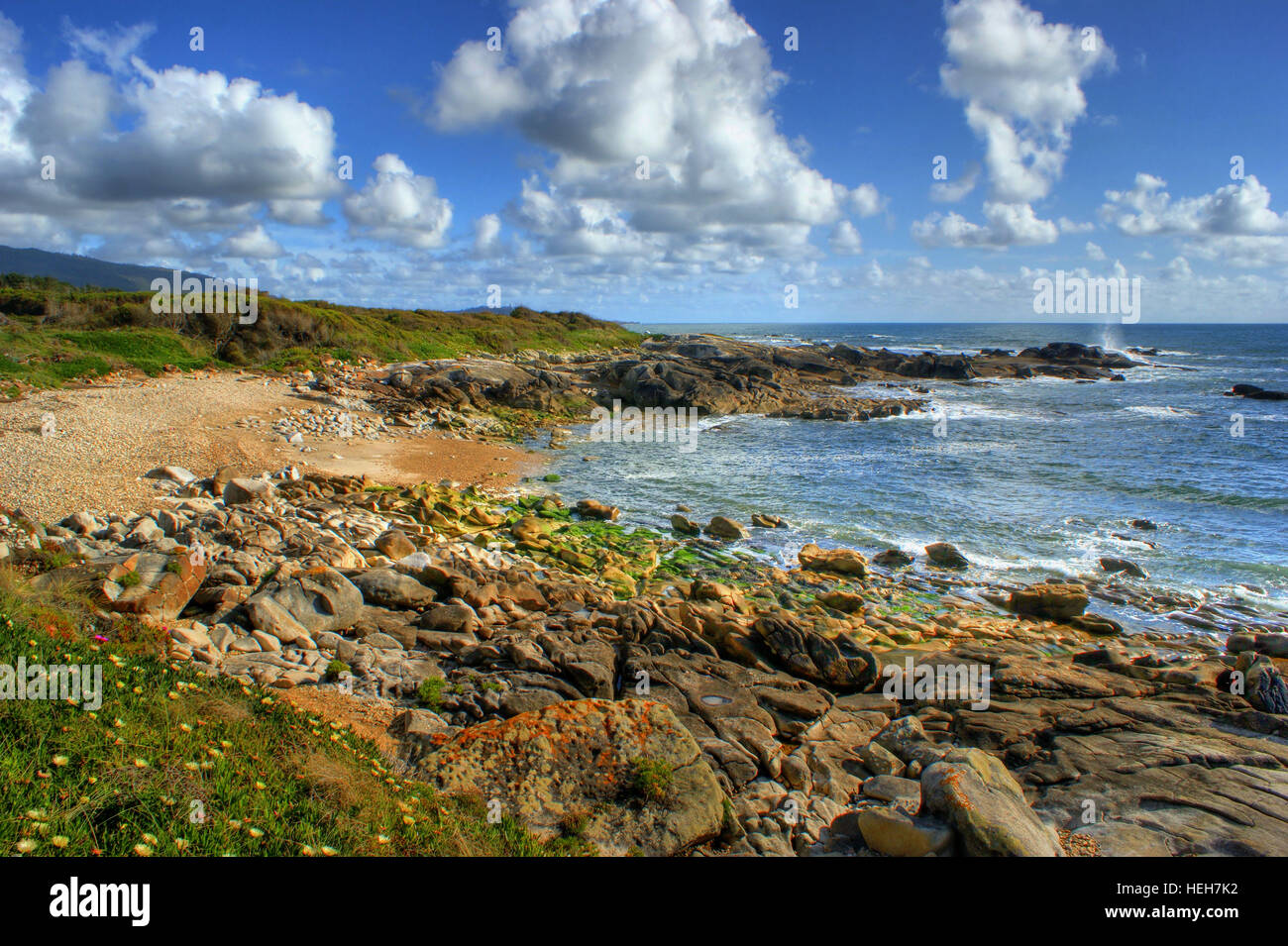 Rock beach in Vila Praia de Ancora, north of Portugal - Stock Image