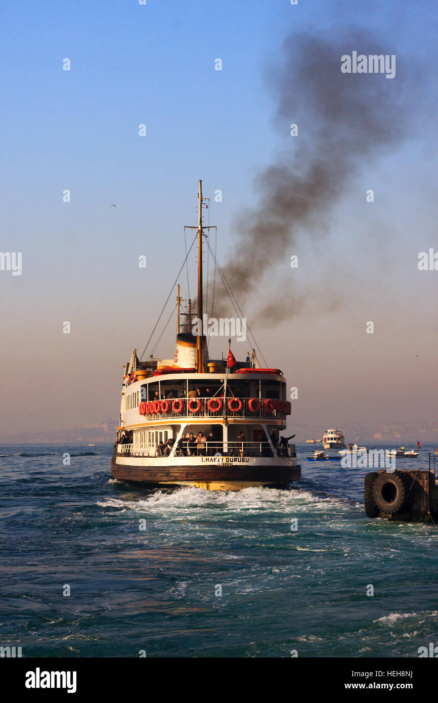 Nostalgic passenger ship of Istanbul.These ships sails between  Europe and Asia everyday. - Stock Image