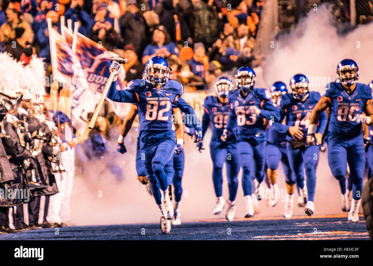 Boise State Football Game, Albertson Stadium, 2016, Boise, Idaho, USA - Stock Image