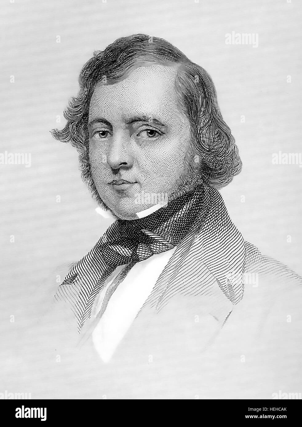 SAMUEL LOVER (1797-1868) Irish author and composer about 1858 - Stock Image