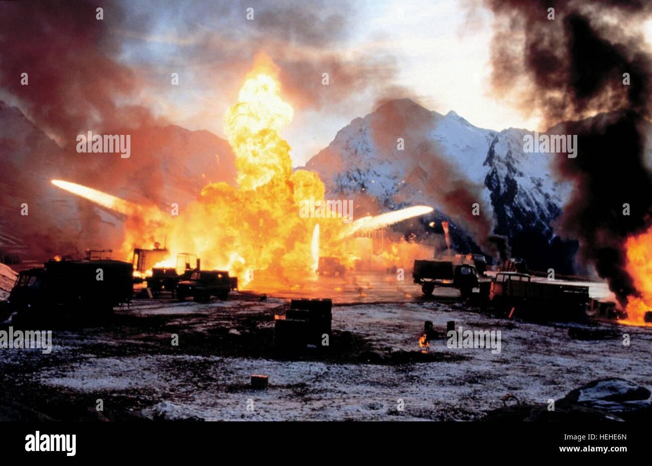 AIRFIELD EXPLOSION JAMES BOND: TOMORROW NEVER DIES (1997