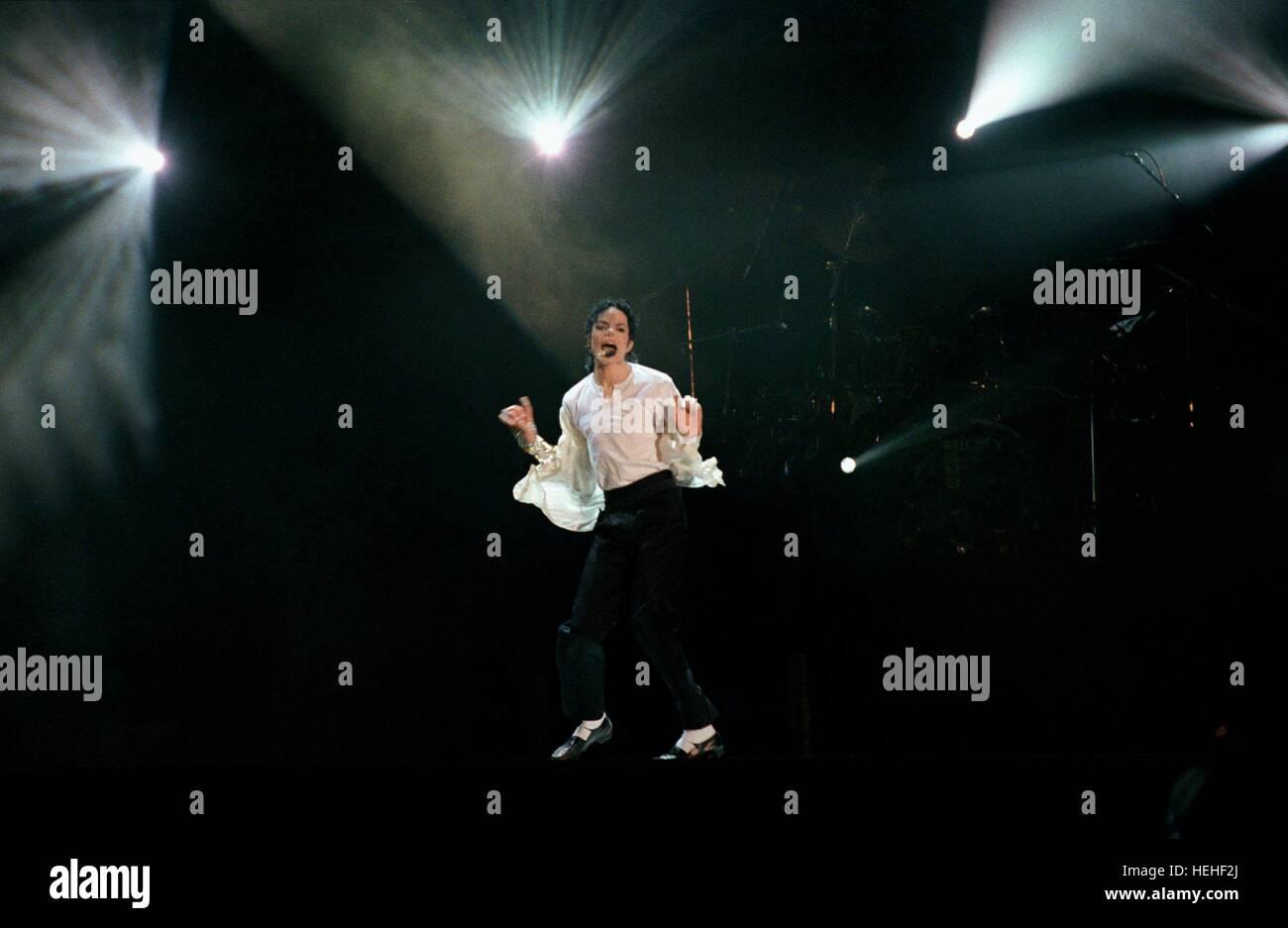 MICHAEL JACKSON SINGER (1999) - Stock Image