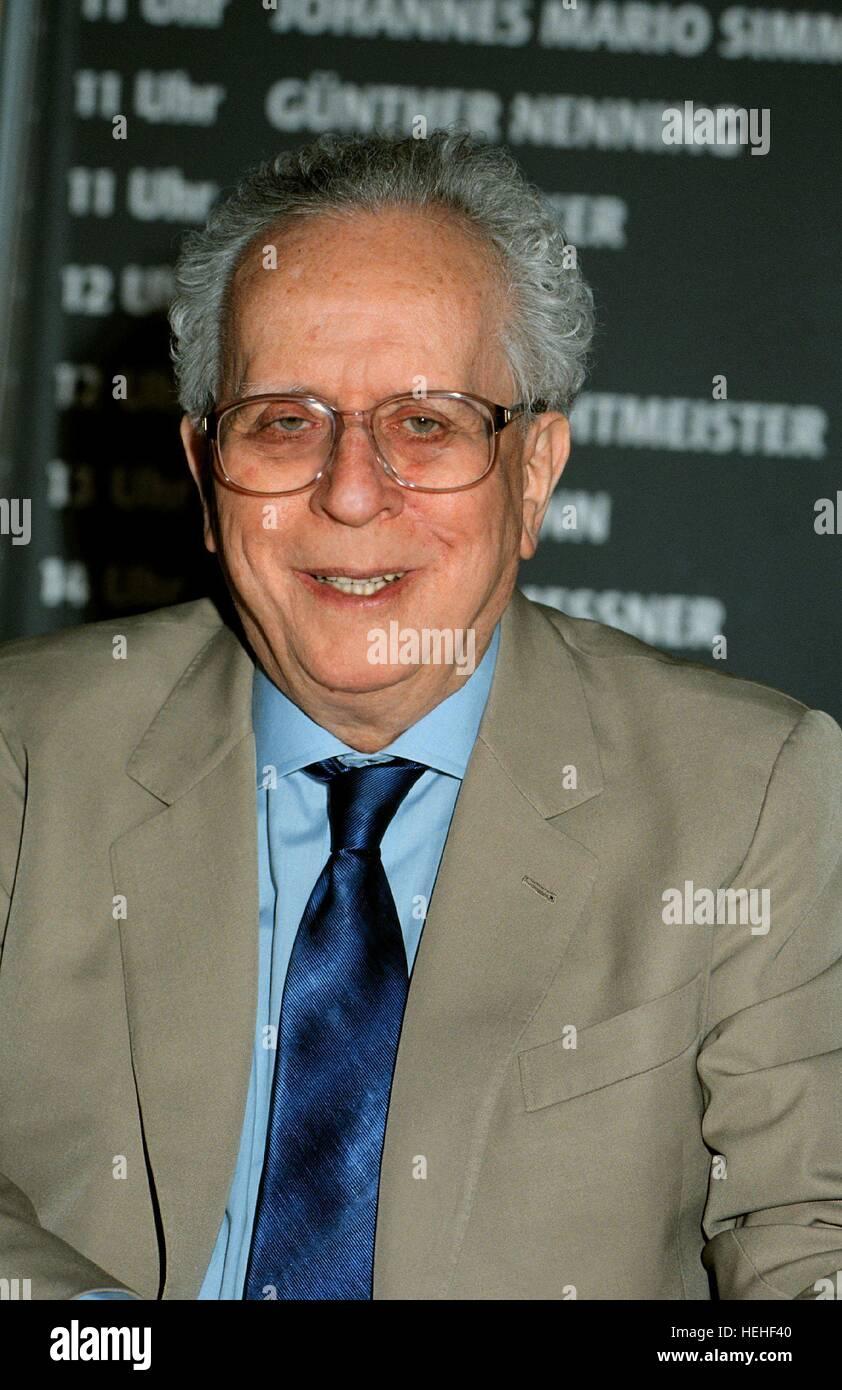 JOHANNES MARIO SIMMEL WRITER (1999) - Stock Image