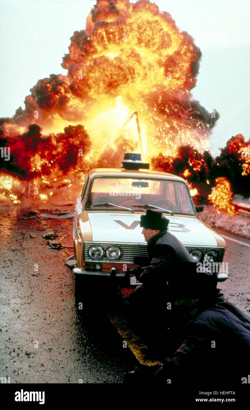 EXPLOSION SCENE JAMES BOND: THE LIVING DAYLIGHTS (1987) - Stock Image