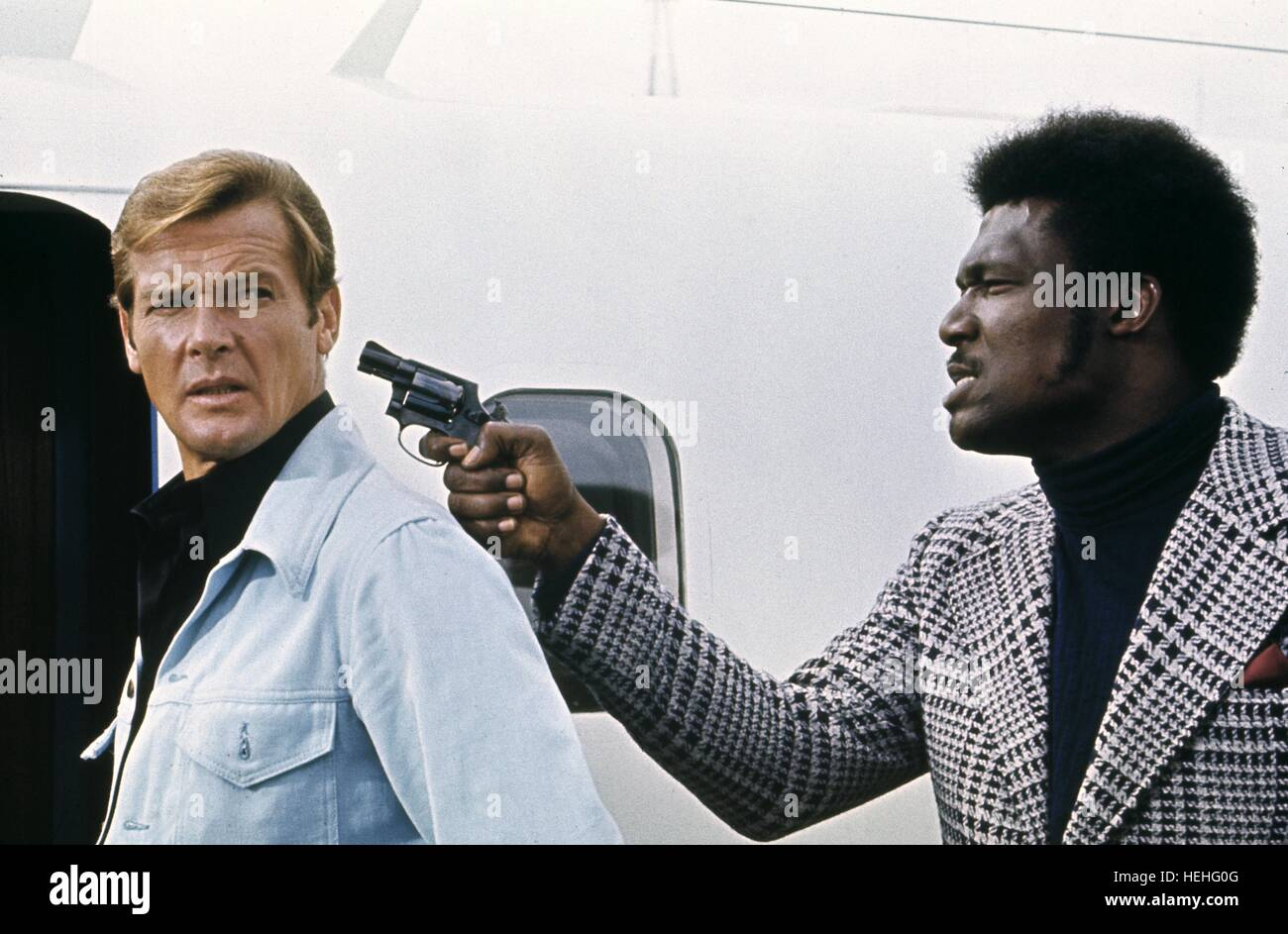 ROGER MOORE TOMMY LANE JAMES BOND: LIVE AND LET DIE (1973) - Stock Image