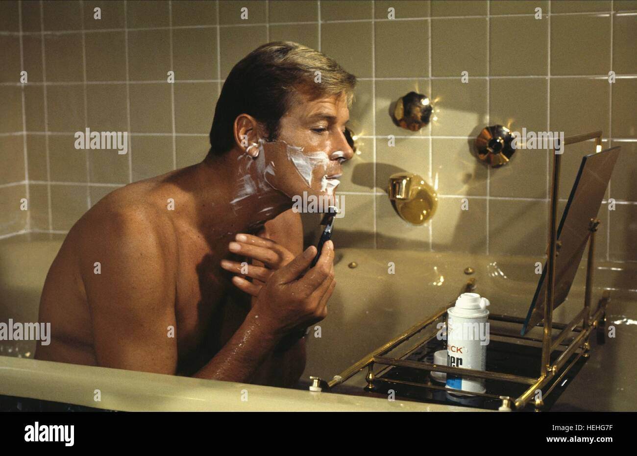 ROGER MOORE JAMES BOND: LIVE AND LET DIE (1973) - Stock Image