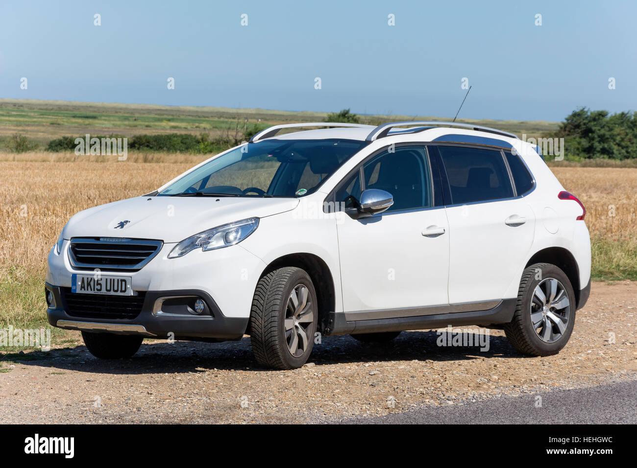 2015 Peugeot 2008 Crossover SUV, Burnham Overy Staithe, Norfolk, England, United Kingdom - Stock Image
