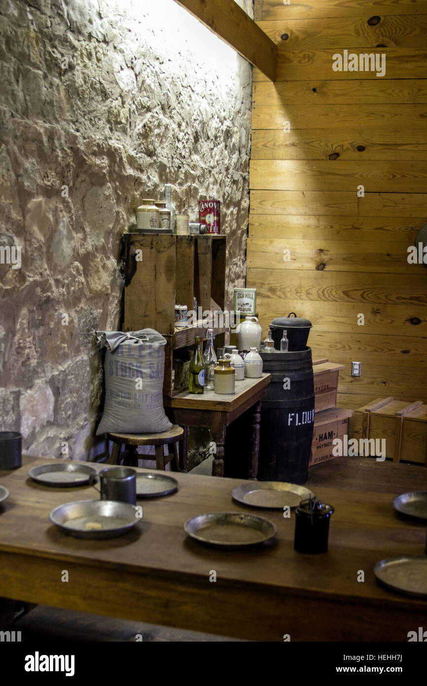 Mess Hall at Fort Concho in San Angelo Texas - Stock Image