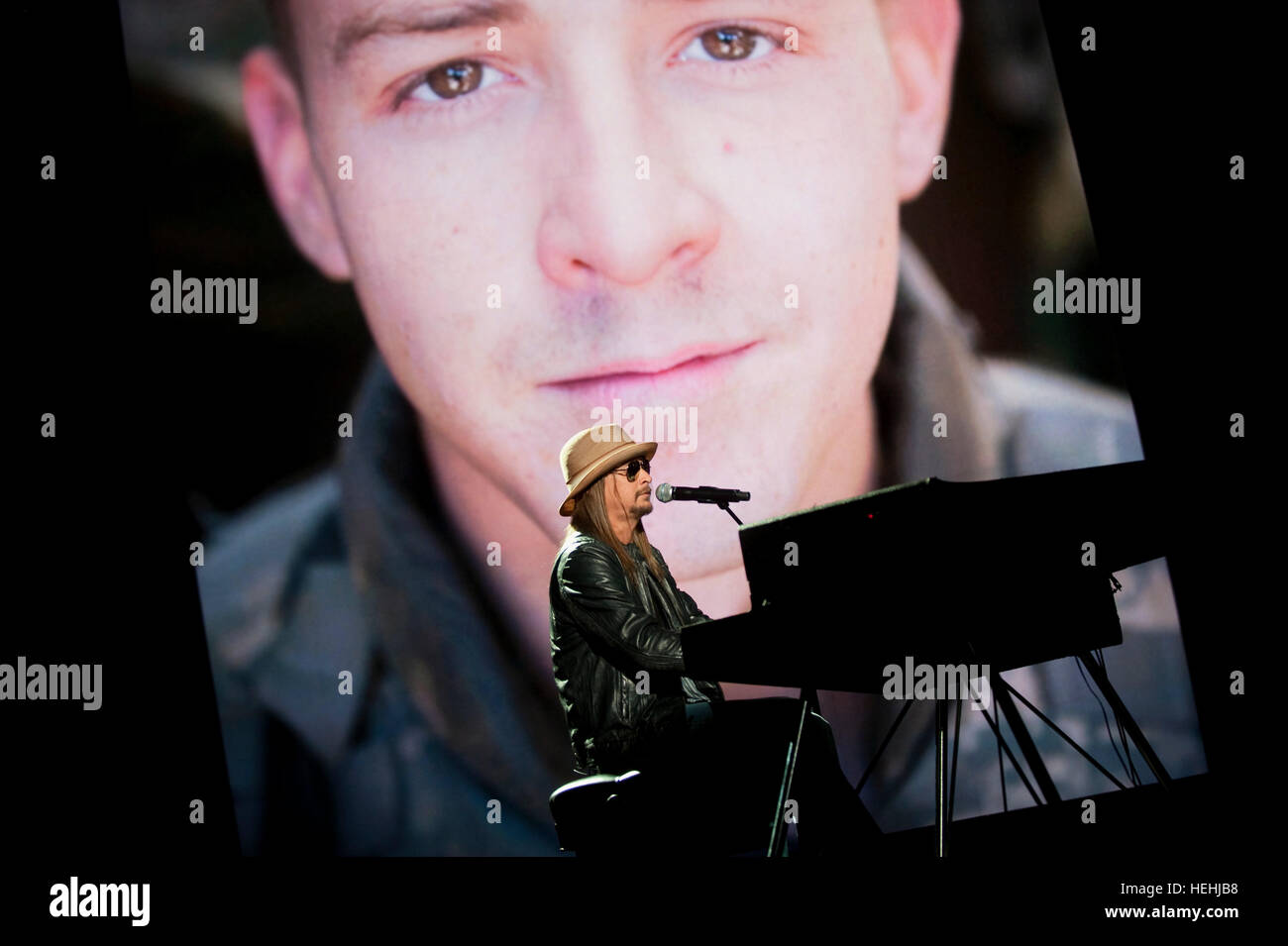 Musician and singer Kid Rock performs at the Robin Hood Foundation Gala at the Jacob Javits Convention Center May - Stock Image