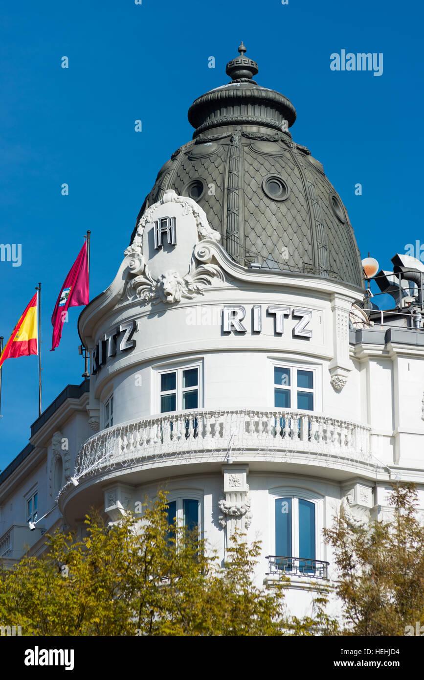 The Ritz hotel, Madrid, Spain. - Stock Image