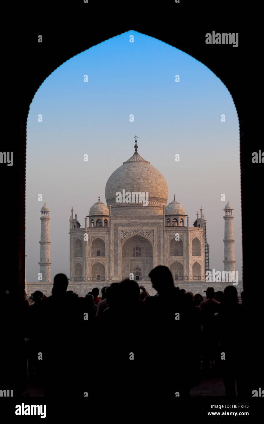 View Of The Taj Mahal Through The Entry Archway Or Gate