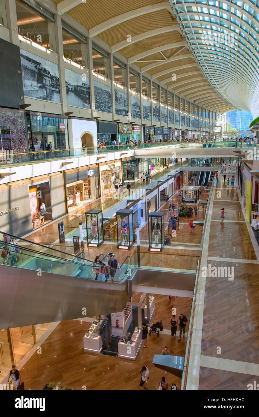 Marina Bay Sands Shopping Mall, Singapore - Stock Image