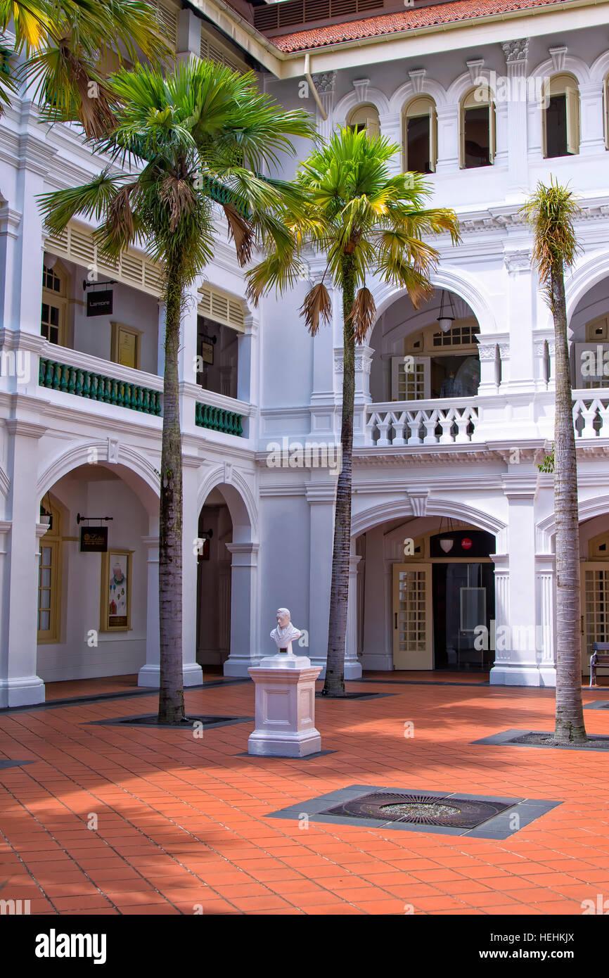 The Raffles hotel, Singapore - Stock Image