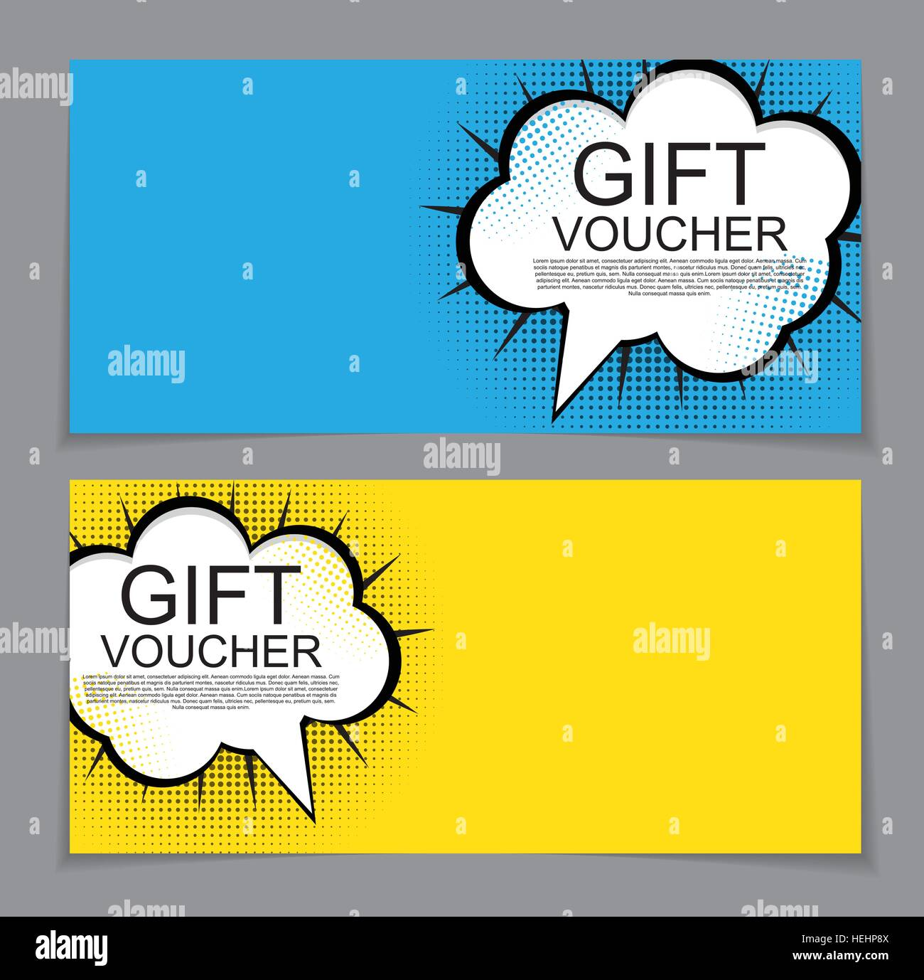 Gift Voucher Template With Cartoon Background Discount Coupon Stock