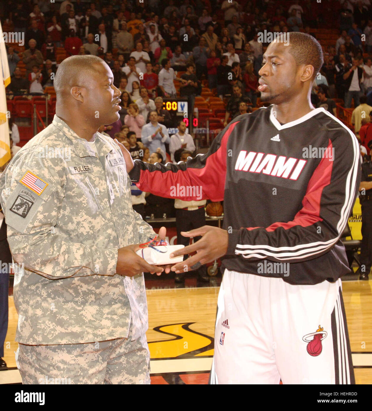 Dedicated to the dedicated, fans, season ticket holders, Dwyane Wade HOMEStrong Program Pregame March 2, 2009 - Stock Image