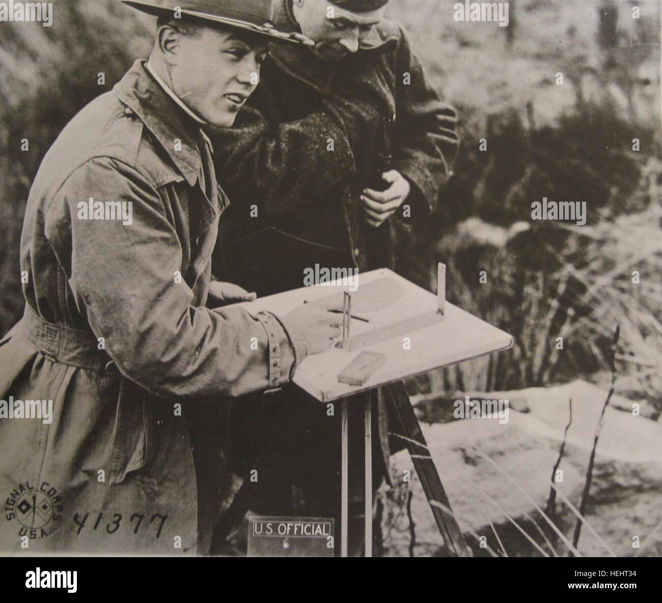US Army Corps of Engineers Map Making, World War I Stock Photo ...