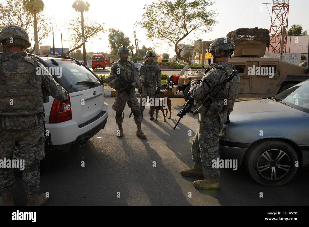 U.S. Soldiers from 1st Battalion, 5th Cavalry Regiment, 1st Cavalry ...