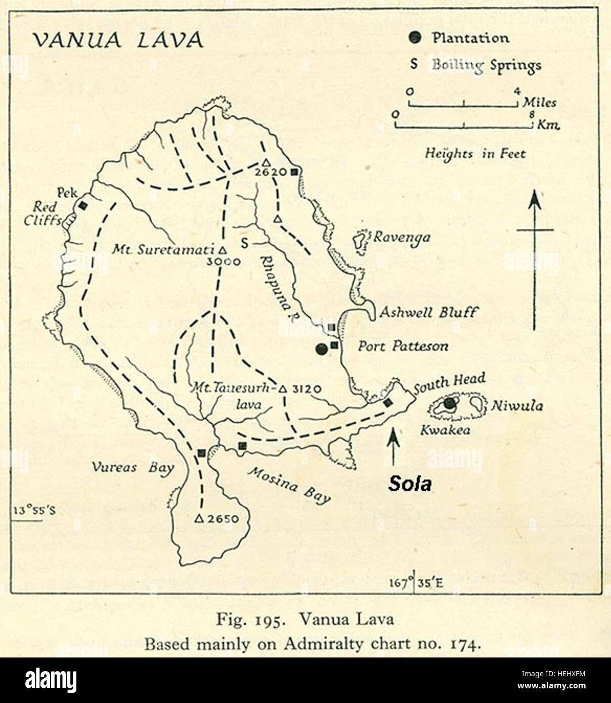 Vanua lava - Stock Image