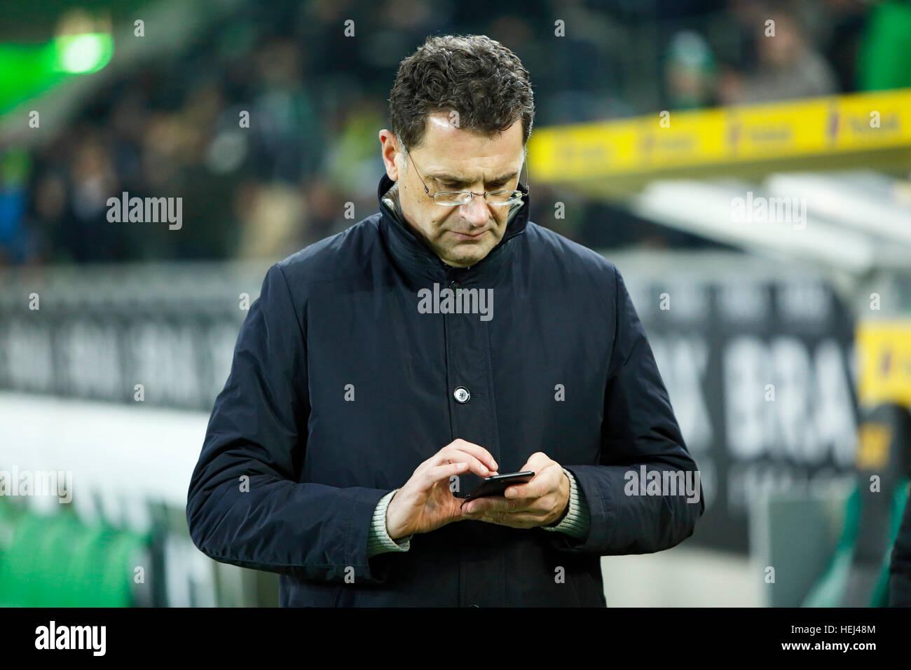 sports, football, Bundesliga, 2016/2017, Borussia Moenchengladbach vs VfL Wolfsburg 1:2, Stadium Borussia Park, - Stock Image