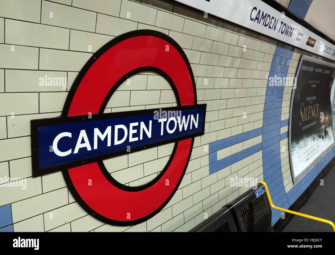 Camden Town Station at Night, North London, England, UK - Stock Image
