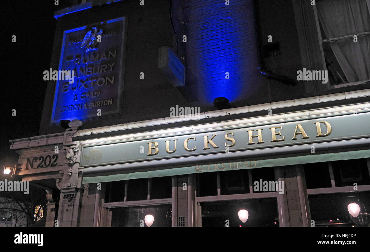 Camden Town, Bucks Head at Night, North London, England, UK - Stock Image