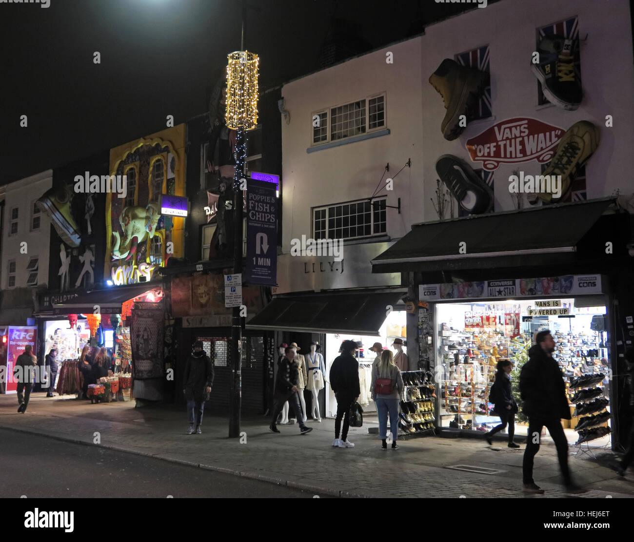 Camden Town at Night, North London, England, UK - Stock Image