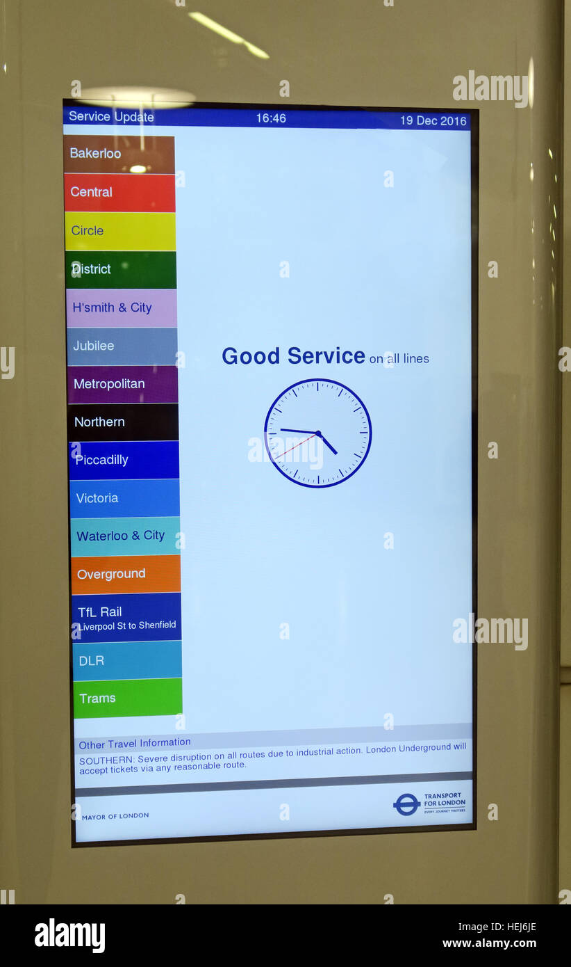 Good Service on all London Transport Lines - Stock Image
