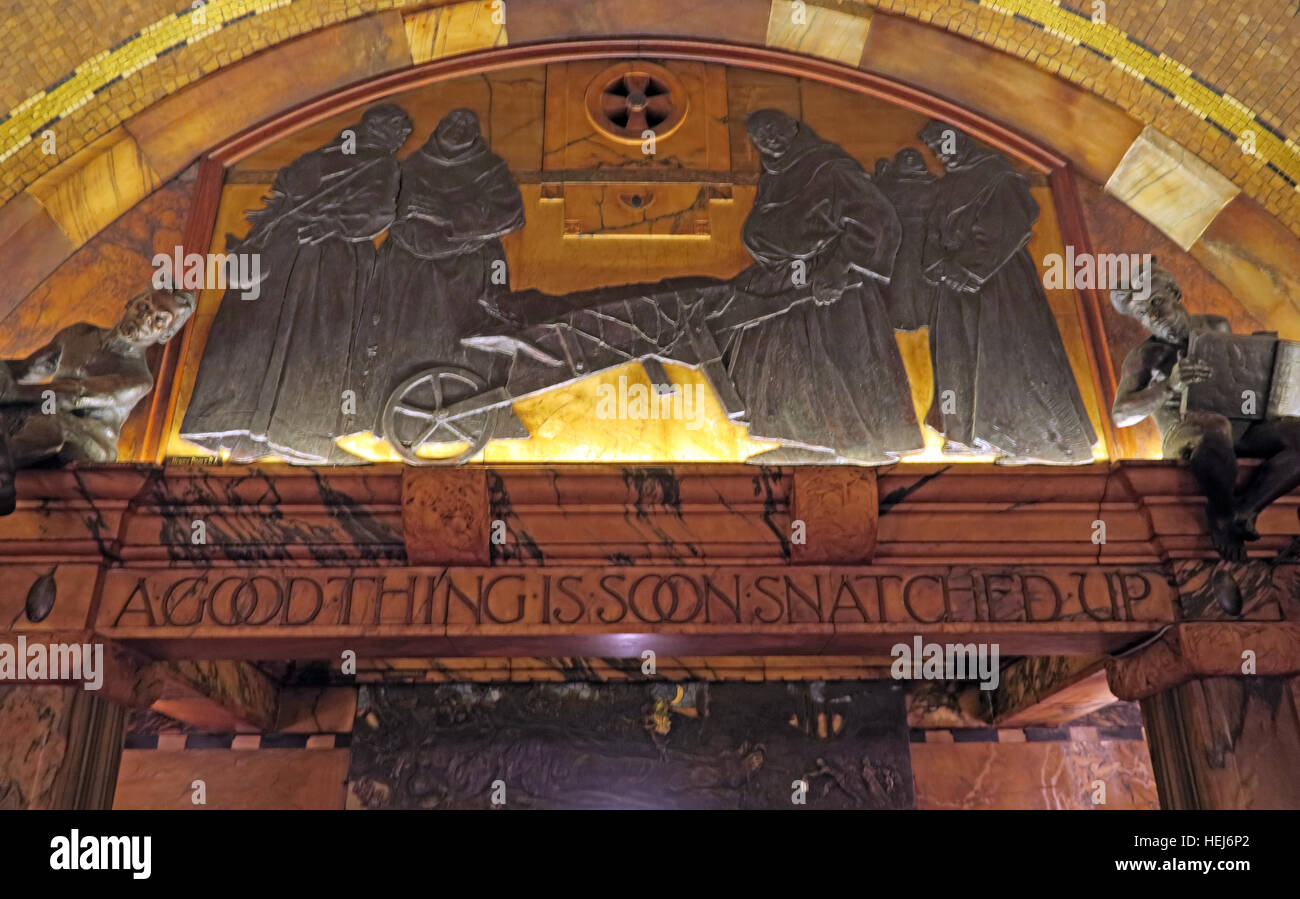 The Black Friar, Blackfriars, London, England, UK at night,A good thing is soon snatched up - Stock Image