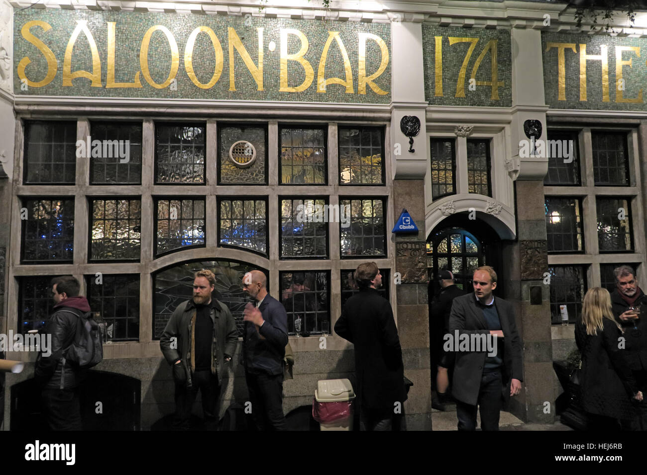 The Black Friar, Blackfriars, London, England, UK at night - Stock Image
