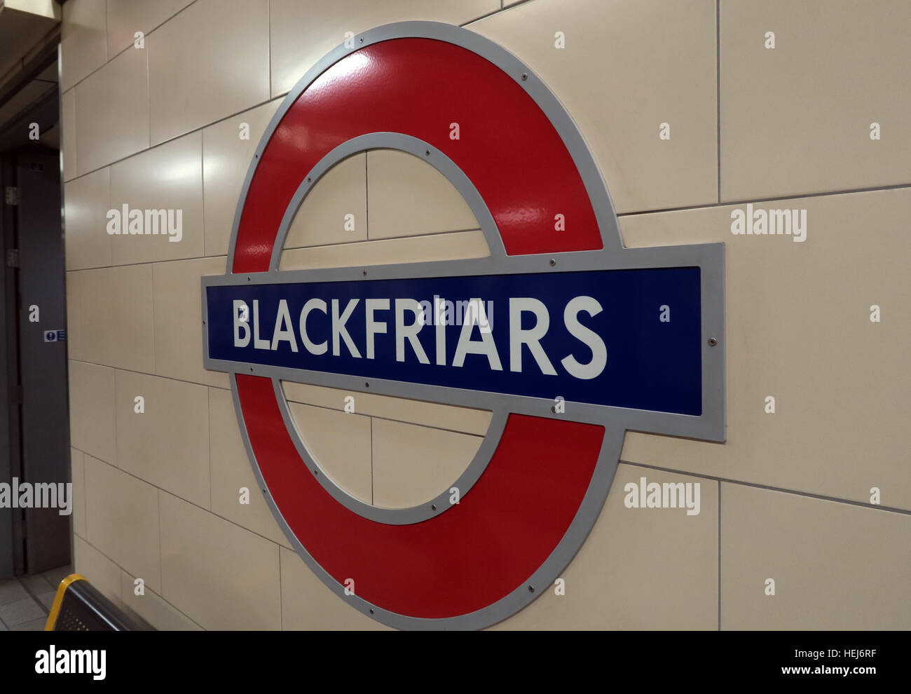 Blackfriars Tube Station, London City Centre,England,UK - Stock Image