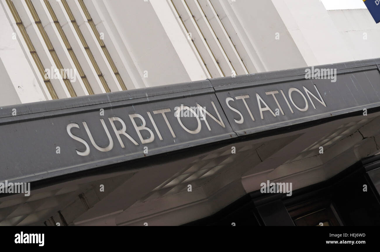 Surbiton Railway Station,SW Trains, West London, England,UK - Stock Image