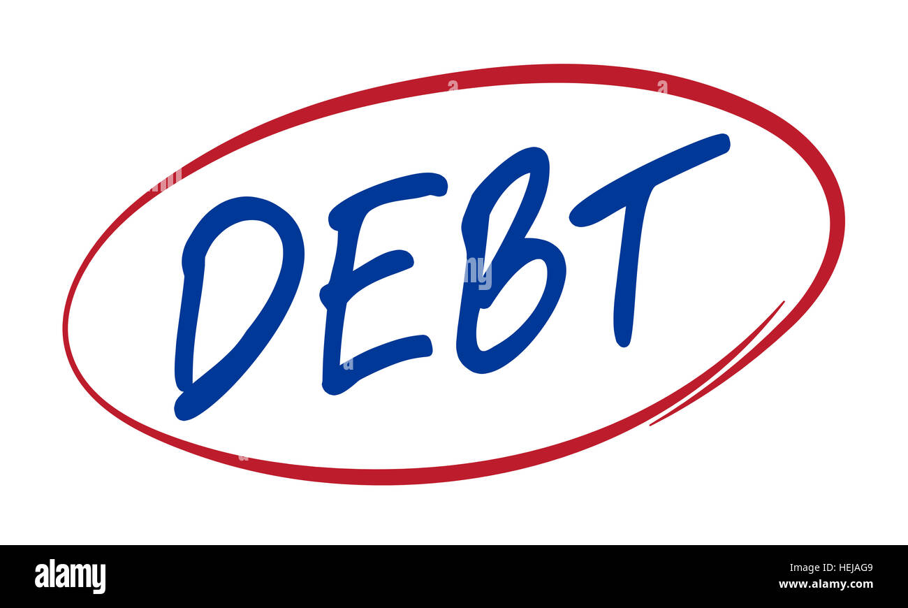 Debt Finance Planning Loan Money Mortgage Concept - Stock Image