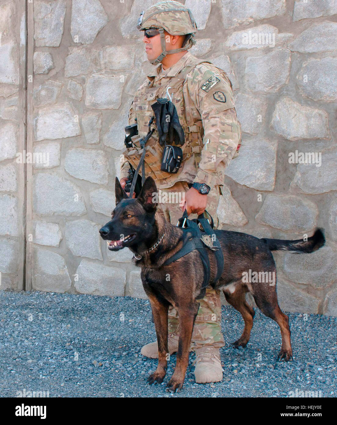 NANGARHAR PROVINCE, Afghanistan — U.S. Army 25th Infantry Divison Pfc. Alexander Padilla of Chicago, Ill., guards - Stock Image