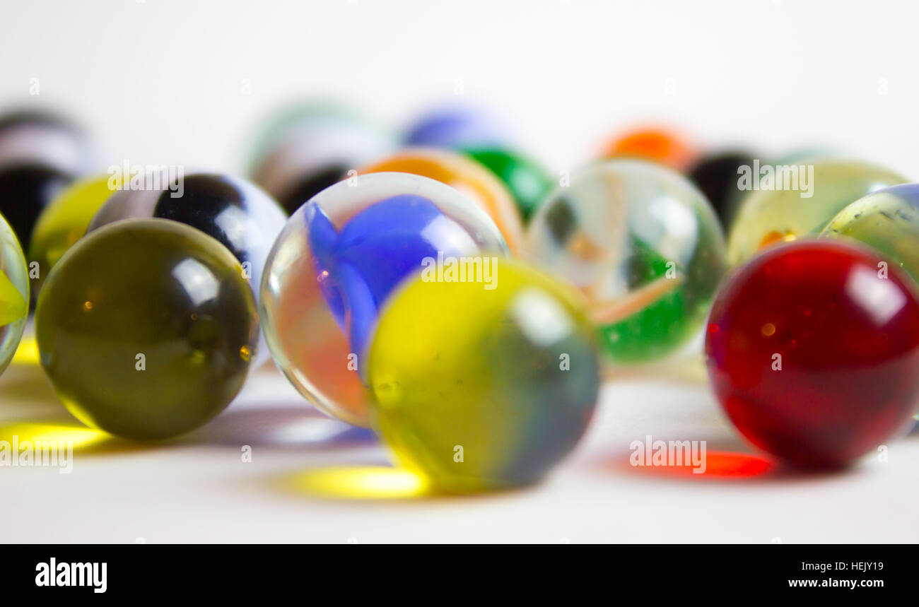 Many Colorful Marbles - Stock Image