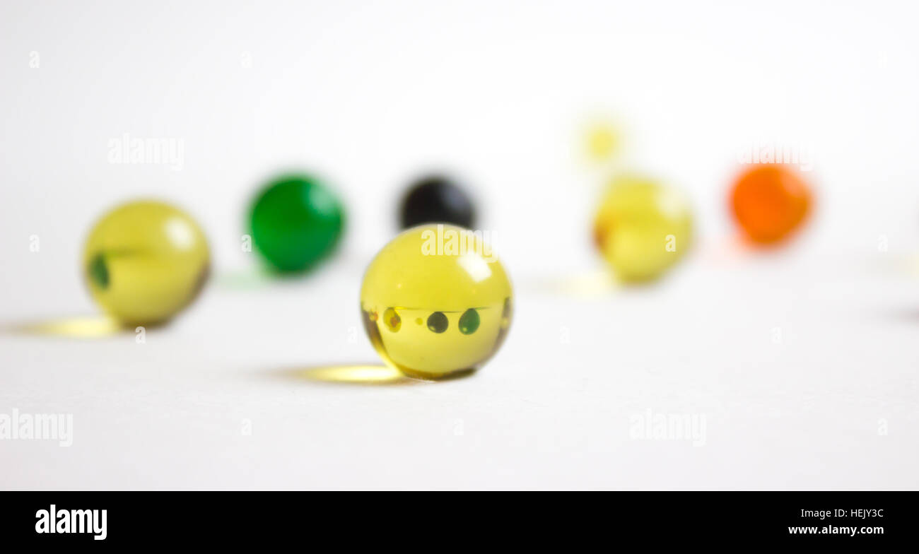Refraction In Yellow Marble - Stock Image