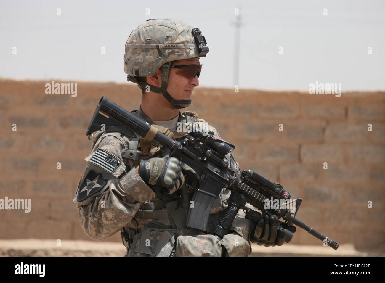 A U S  Soldier from 1st Platoon, Crazyhorse Company, 2nd