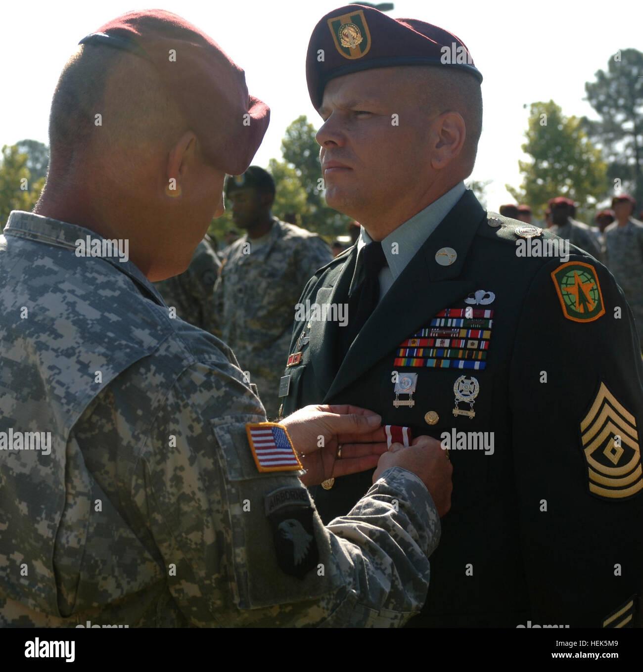 1st Sgt  James W  Brooks, of Headquarters, Headquarters Company 16th