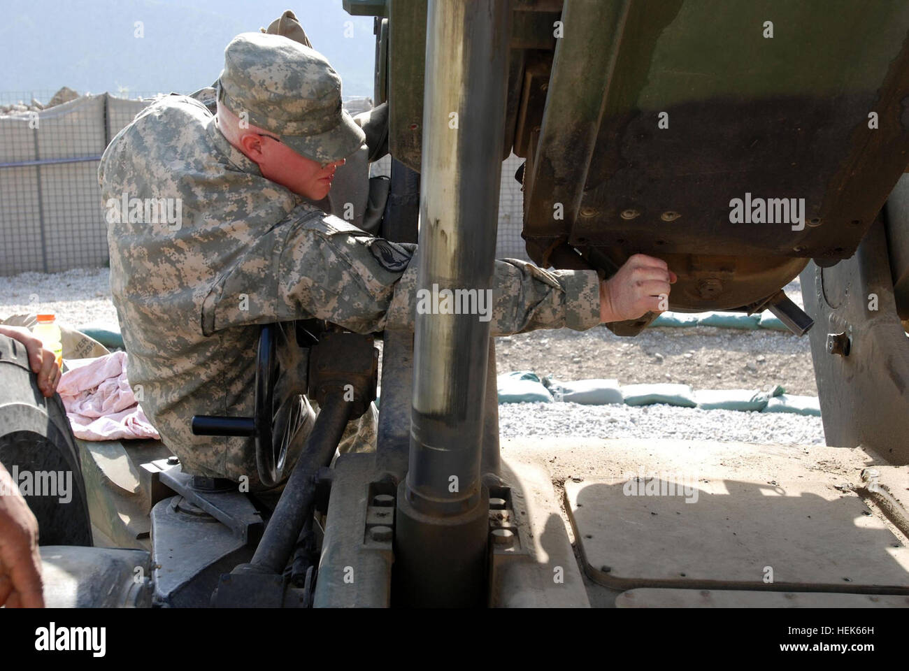 070807-A-6849A-010 – Army Sgt. Daniel Martwick, Headquarters and Headquarters Company, 173rd Airborne Brigade Combat - Stock Image